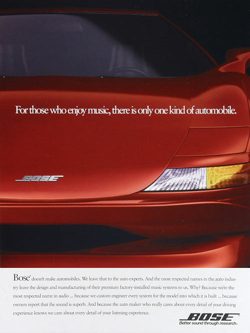 Print Ad Campaign for Bose Automotive Systems