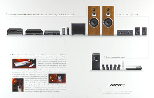 Product Ad for Bose Lifestyle 40