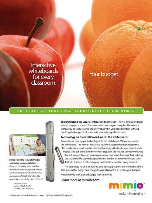 Print Ads for Mimio Teaching Technologies