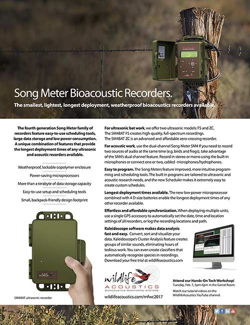 Conference Ad for Wildife Acoustics