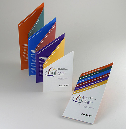 Corporate Values Brochure for Bose