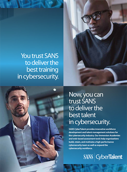 Promotional Brochure for SANS CyberTalent