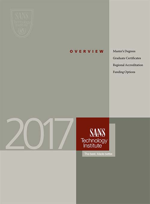 Overview Brochure for SANS Technology Institute 2017