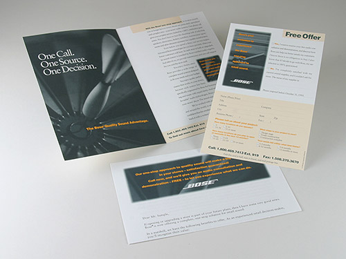 Direct Mail for Bose Pro Consulting Services