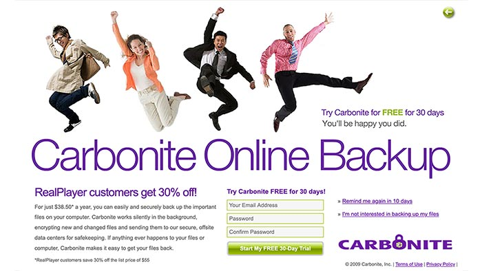 Animated Online Flash Banner for Carbonite