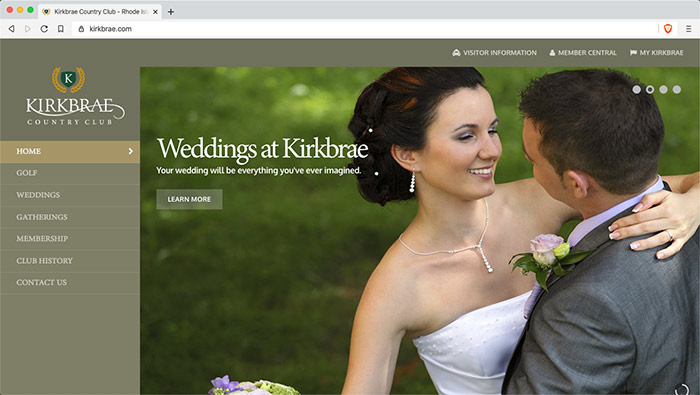 Website for Kirkbrae Country Club