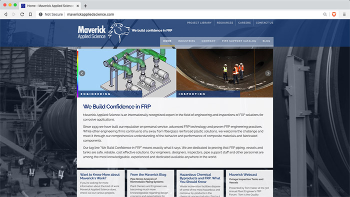 Website for Maverick Applied Science