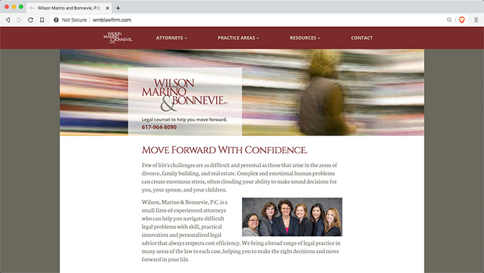 Website for Wilson Marino and Bonnevie