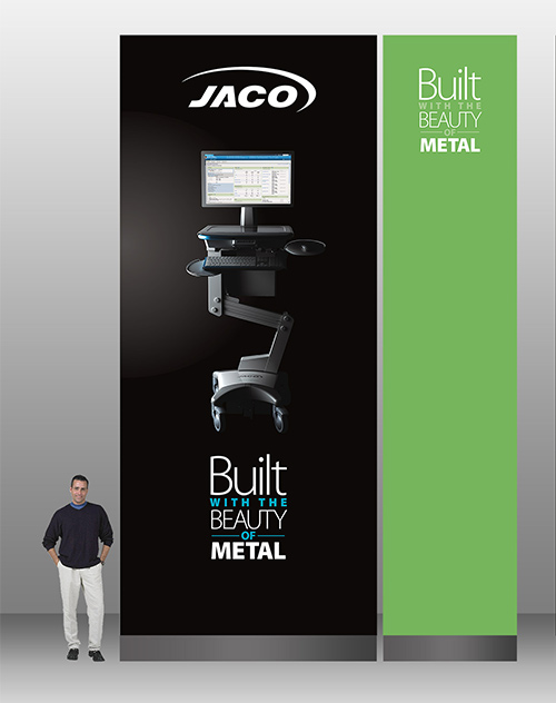 Trade Show Graphics for Jaco at HIMSS 2016 and 2017