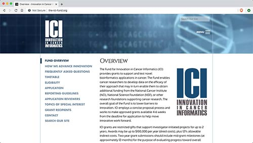 Website for the Fund for Innovation in Cancer Informatics